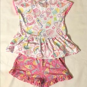3 T Ice Cream Shorts And Top Set